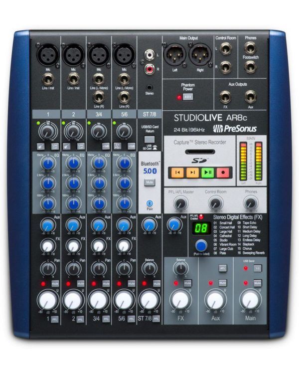 PreSonus StudioLive AR8c 8-Channel Digital Mixer