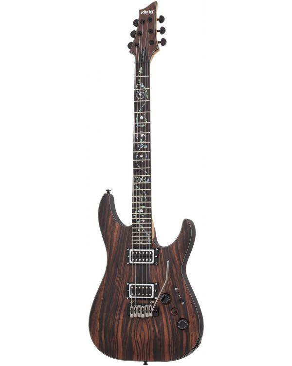 Schecter C-1 Exotic Trem Ebony Electric Guitar