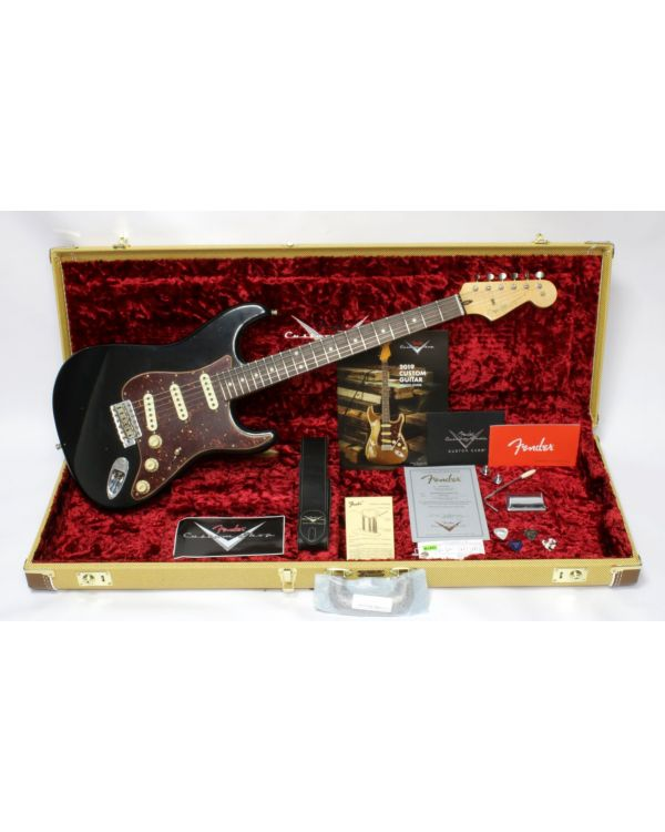 Fender Custom Shop Postmodern Strat Journeyman Relic RW Black