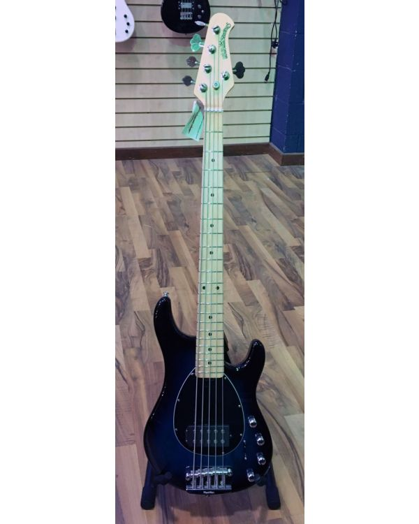 Music Man Sterling 5 MN 5-String Bass, Pacific Blue Burst