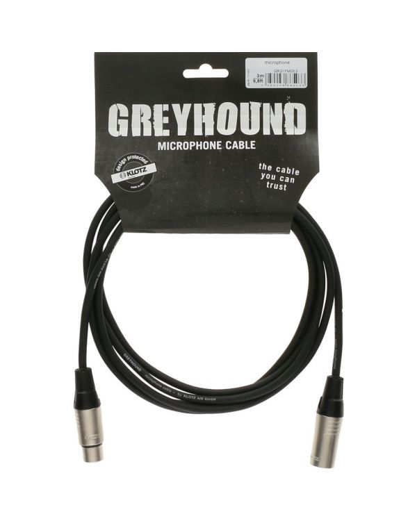 Klotz GRG Greyhound Mic Cable Black 1m XLR