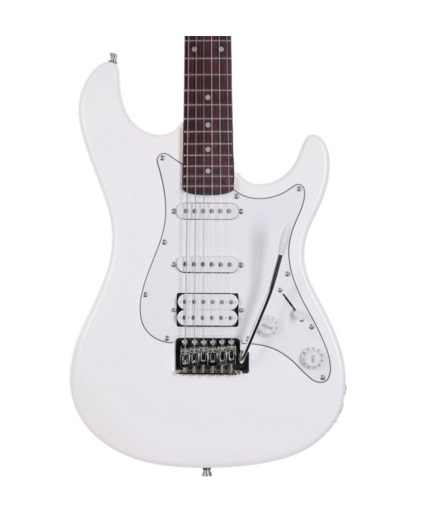 Eastcoast GS100H-AWT HSS Electric Guitar, Arctic White
