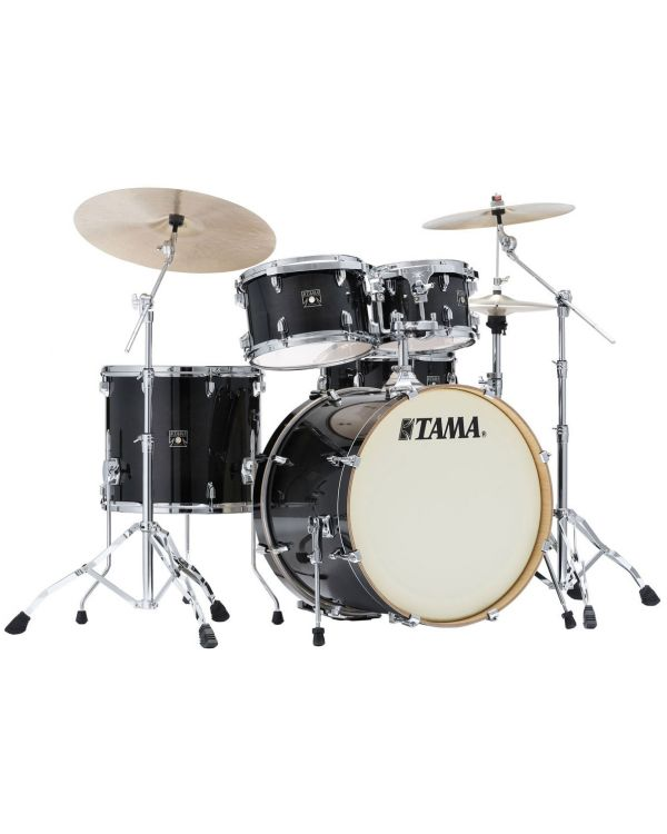 Tama Superstar Classic 5-Piece Drum Kit with Hardware Transparent Black Burst