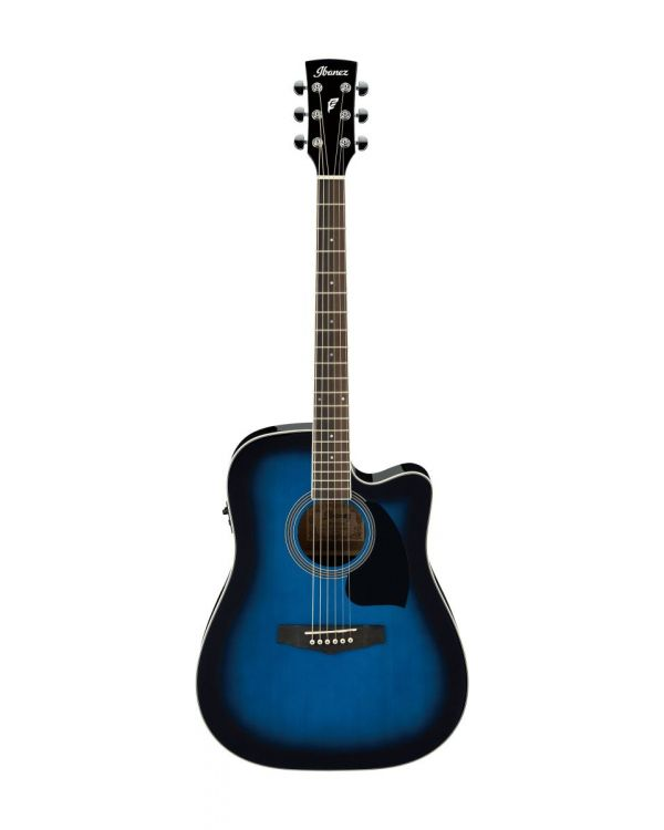 Ibanez PF15ECE Electro-Acoustic Guitar Transparent Blue Sunburst