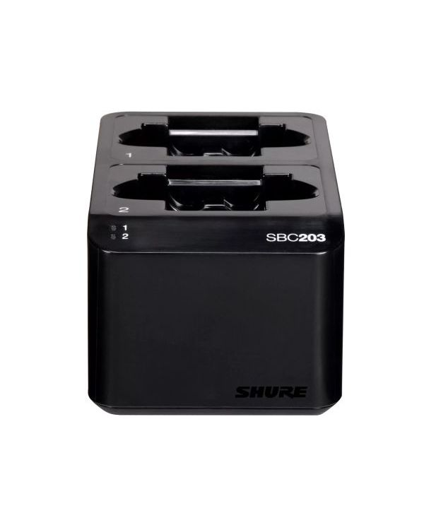 Shure SB203 Dual Dock Charger for SLX-D1 and SLX-D2 Transmitters