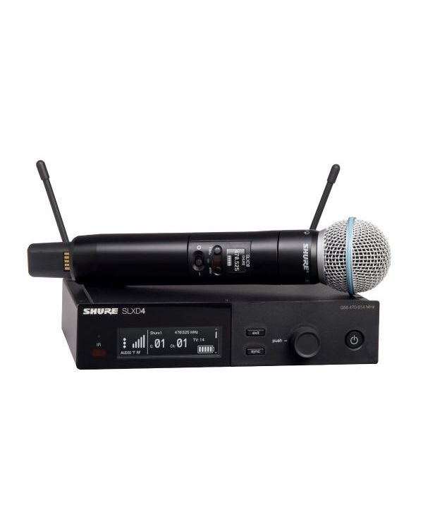 Shure SLX-D Wireless System with Beta 58A Handheld Microphone