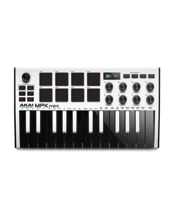 Akai MPK Mini 3 White MIDI Keyboard