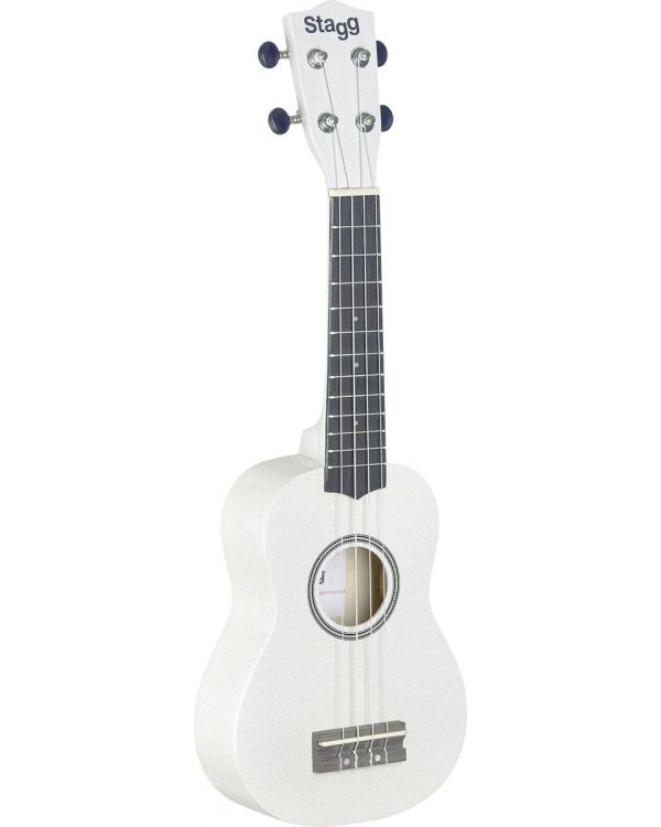 Stagg US-WHITE Soprano Ukulele White with Gig Bag