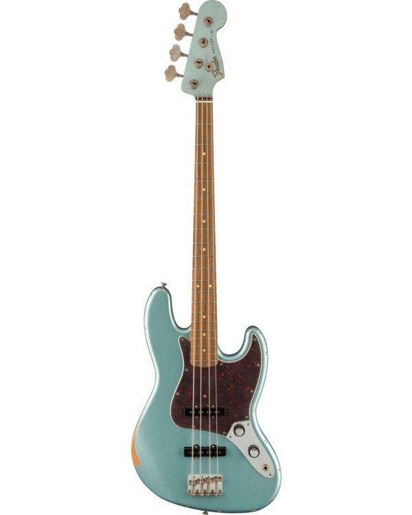 Fender 60th Anniversary Road Worn '60s Jazz Bass Firemist Silver