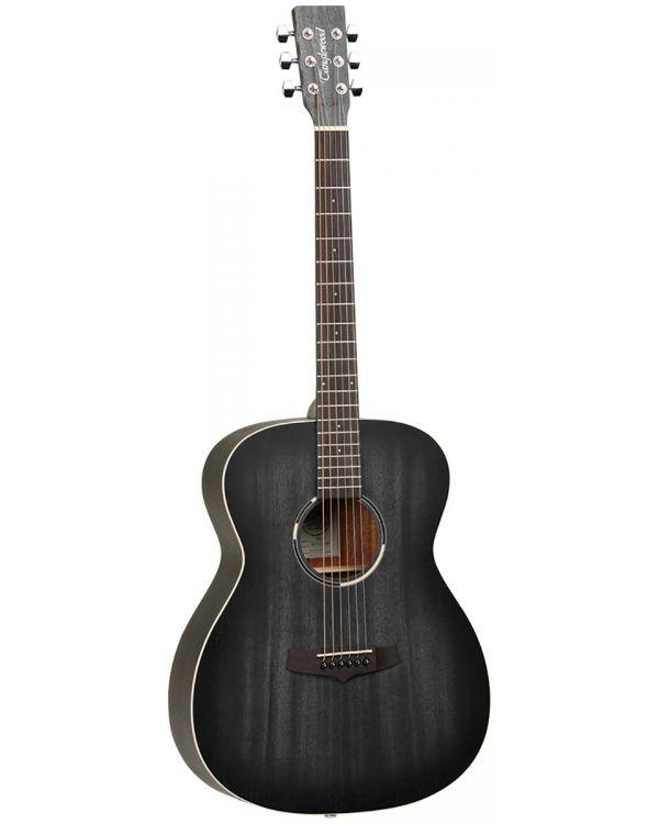 Tanglewood Blackbird Folk Guitar, Smokestack Black Satin