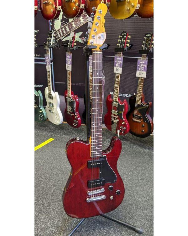 B Stock G&L Tribute ASAT Junior II Guitar, Trans Red