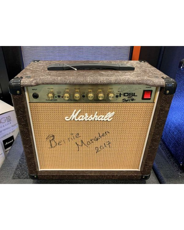 Pre-Loved Marshall DSL5 Combo Amplifier Signed by Bernie Marsden