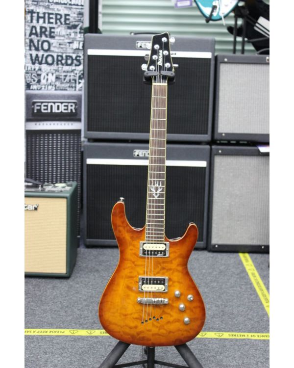 Pre-Loved Ibanez SZ520QM Electric Guitar Gold Amber Burst