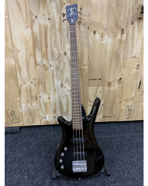 Pre-Loved Warwick Rockbass Corvette LH, Solid Black High Polish