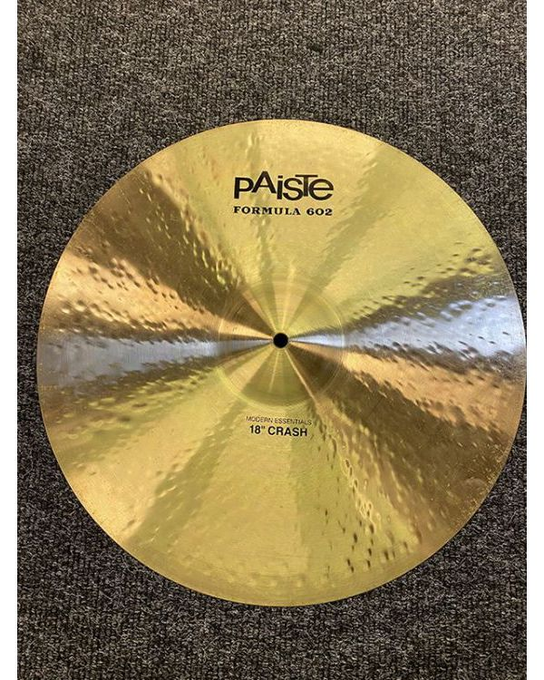 Pre-Loved Paiste 602 Modern Essential 18 Crash