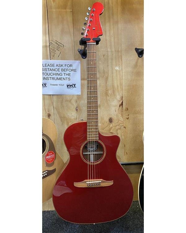B Stock Fender Newporter Classic Electro Acoustic Red Metallic