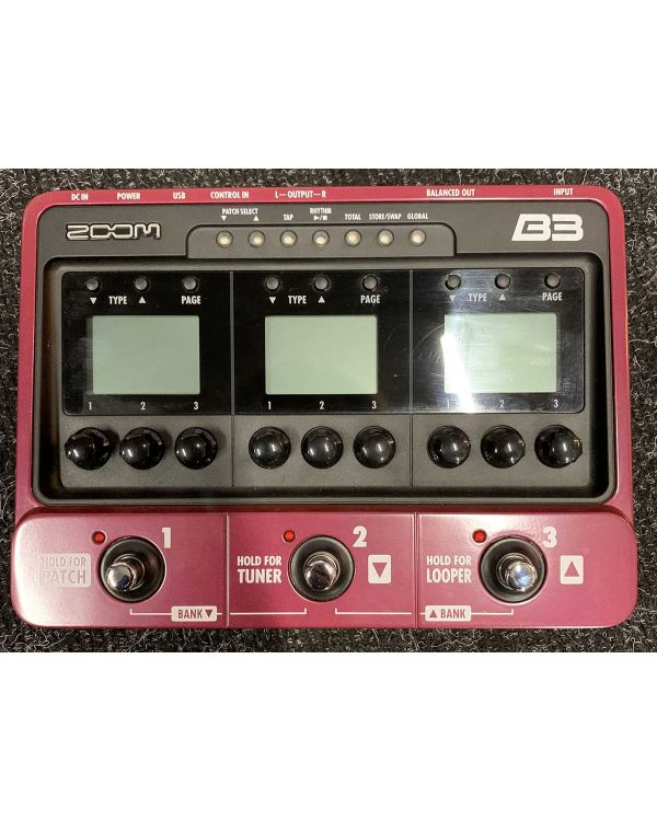 Pre-Loved Zoom B3 Bass Multi-Effects