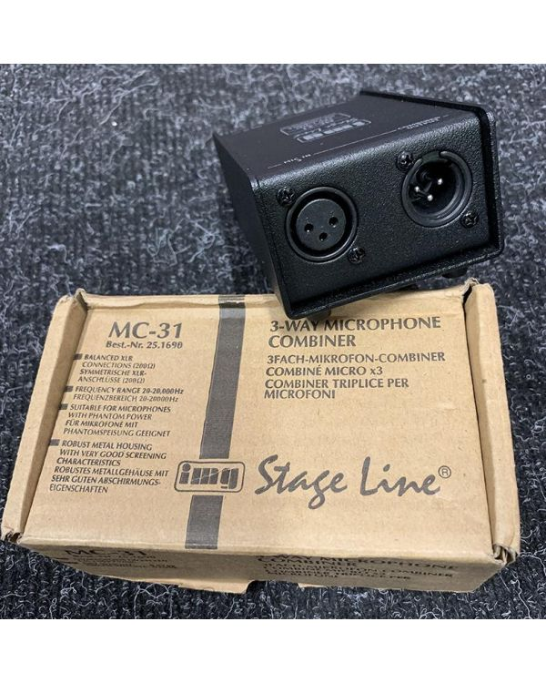 Pre-Loved IMG Stageline MC-31 Microphone Combiner
