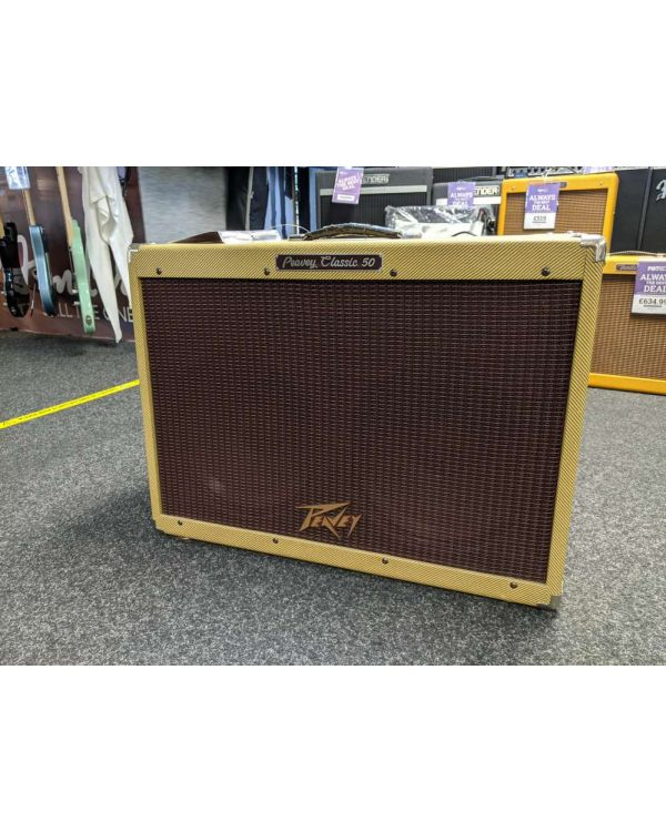 Pre-Loved Peavey Classic 50 212 Guitar Combo Amplifier Tweed