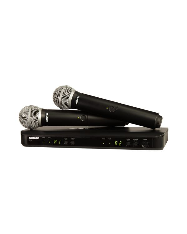 Shure BLX288UK / PG58 Dual Handheld Wireless Microphone System
