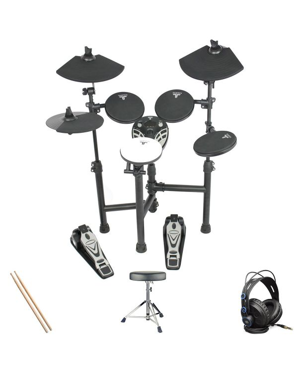 Tourtech TT-12S Electronic Drum Kit Headphone Bundle
