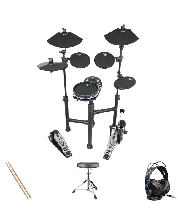 Tourtech TT-12SM Electronic Drum Kit Headphone Bundle