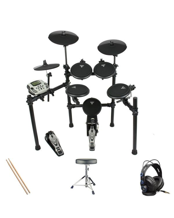 Tourtech TT-16S Electronic Drum Kit Headphone Bundle