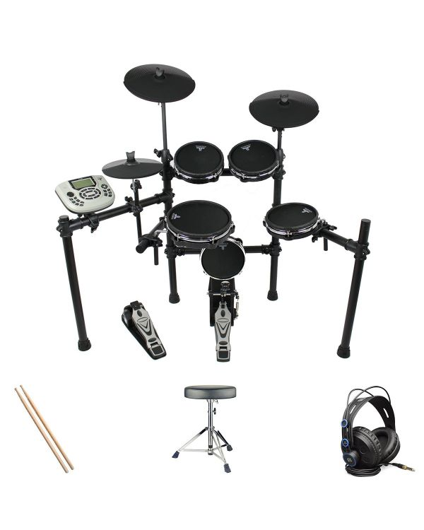 Tourtech TT-22M Electronic Drum Kit Headphone Bundle