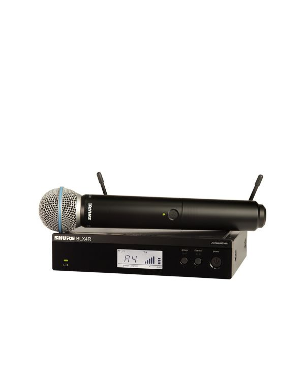 Shure BLX24RUK / Beta58A Rack Mountable Wireless Microphone System