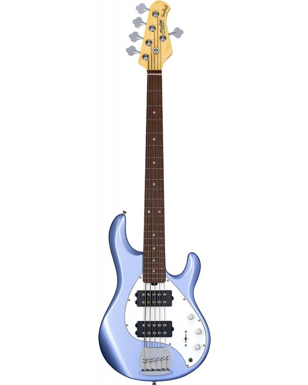 Sterling By Music Man SubRay 5 HH Bass, Lake Blue Metallic