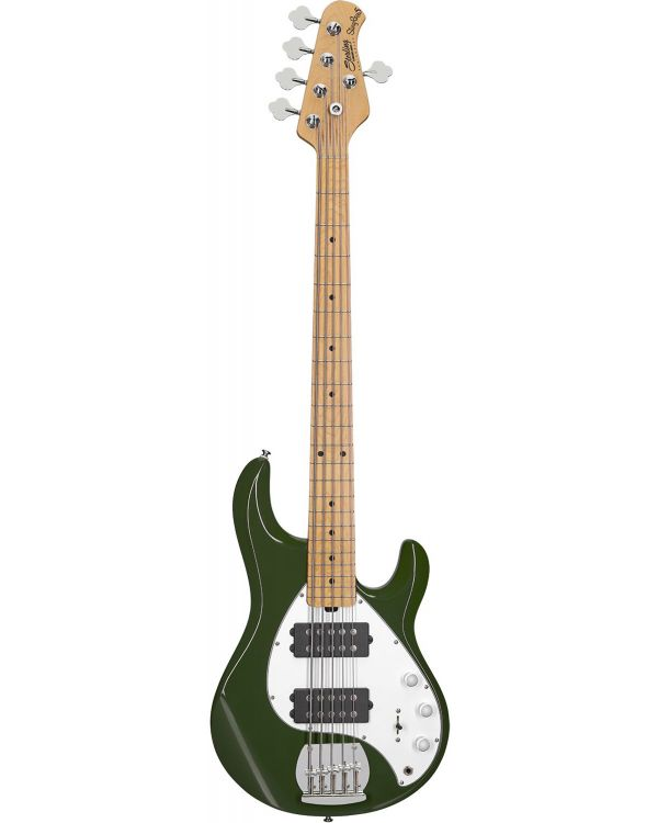 Sterling By Music Man SubRay 5 Bass Guitar HH, Olive