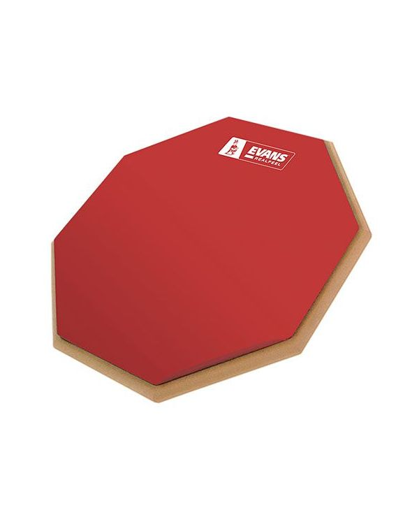 Evans Real Feel Ltd Edition Barney Beats Practice Pad, Red Rubber