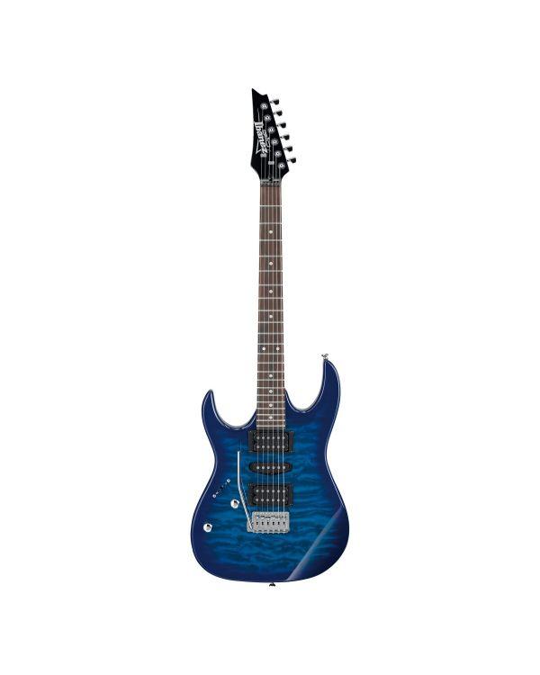 Ibanez GRX70QAL Electric Guitar Transparent Blue Burst LH
