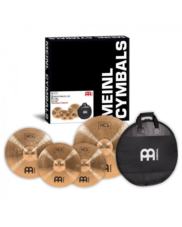 Meinl HCS Bronze Cymbal Pack With Gig Bag