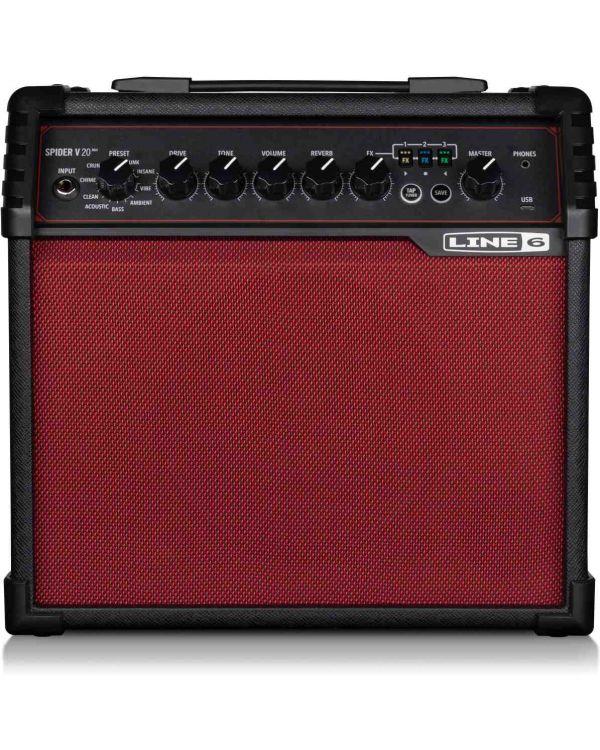 Line 6 Spider V 20 MKII Guitar Amp Red Edition