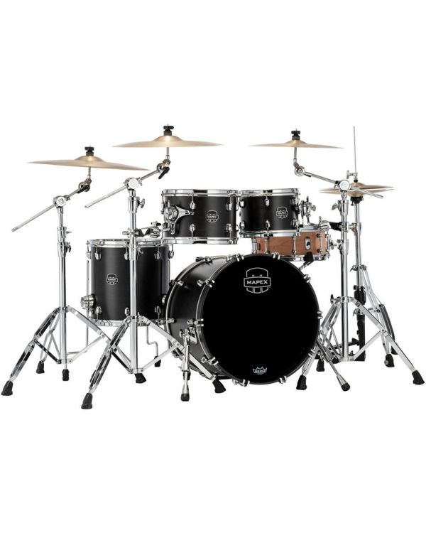 Mapex Saturn 2020 Fusion 4-Piece Shell Pack, Satin Black