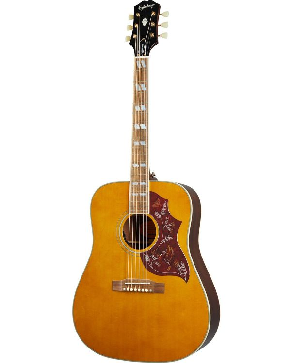 Epiphone Inspired By Gibson Hummingbird, Aged Natural Antique