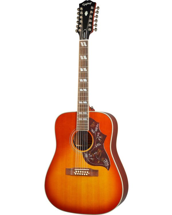 Epiphone Inspired By Gibson Hummingbird 12-string, Aged Cherry Sunburst