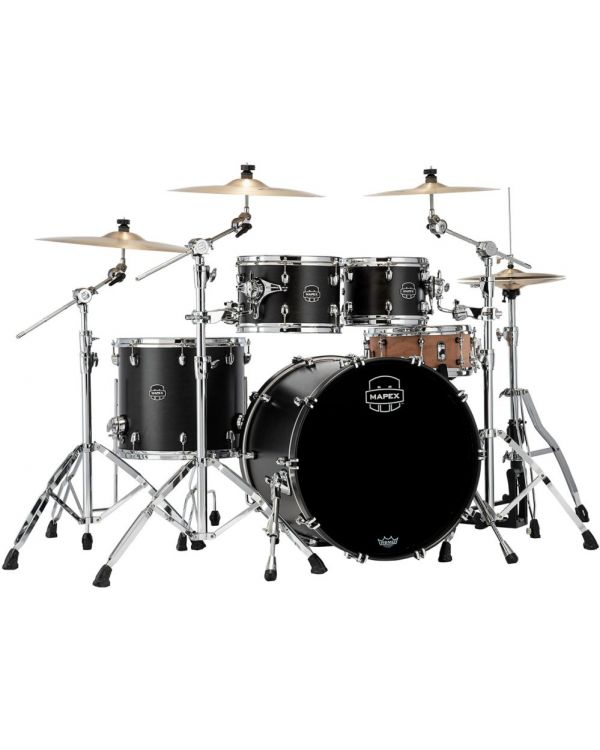 Mapex Saturn 2020 Rock 4-Piece Shell Pack, Satin Black