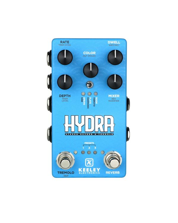 Keeley Electronics Hydra Stereo Reverb and Tremolo Pedal