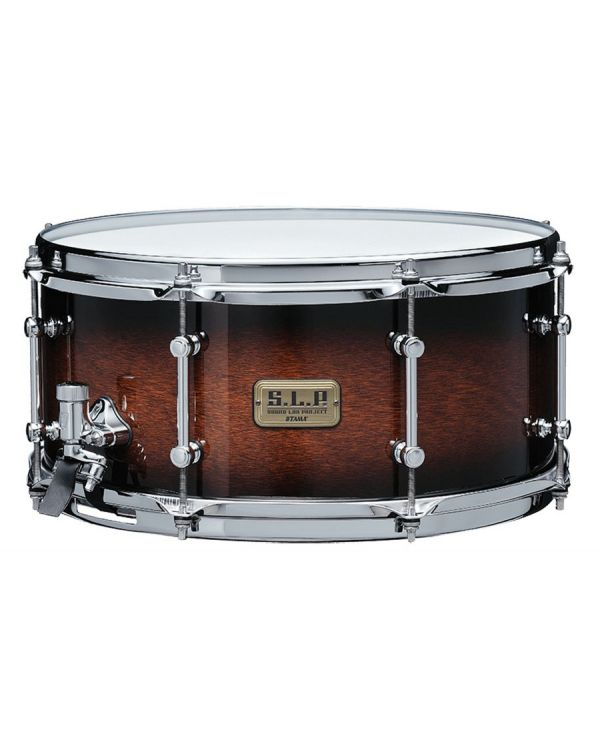 Tama SLP Kapur Snare Drum, Black Kapur Burst