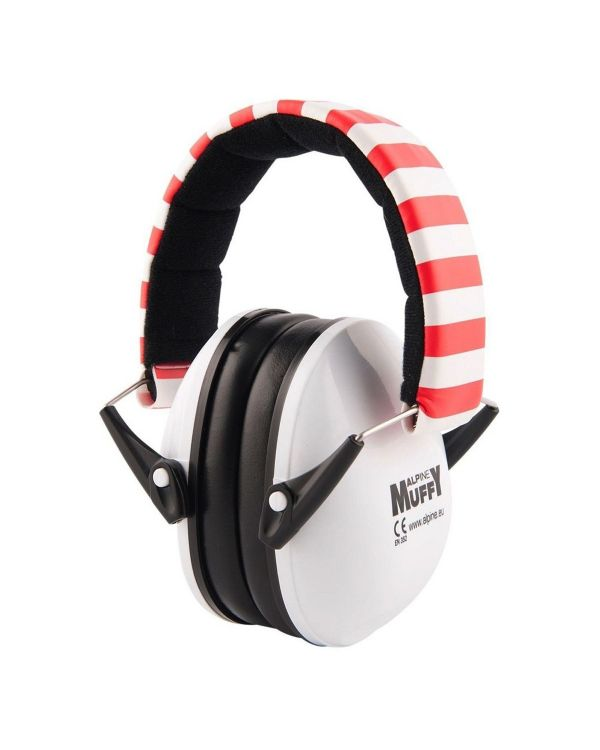 Alpine Muffy Kids Ear Defenders Red & White Stripe