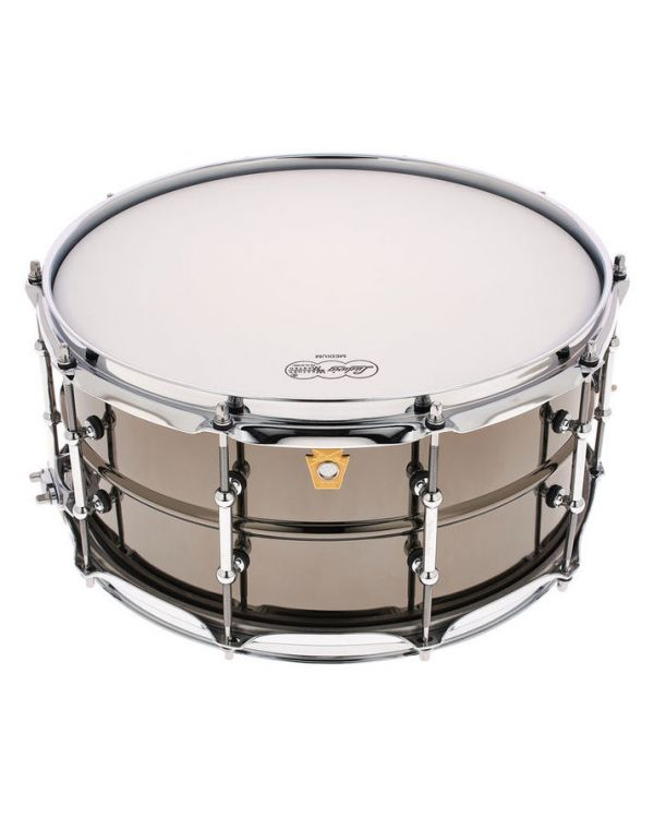 "Ludwig LB417T 6.5x14"" Black Beauty Snare Drum Smooth Shell Tube Lugs"