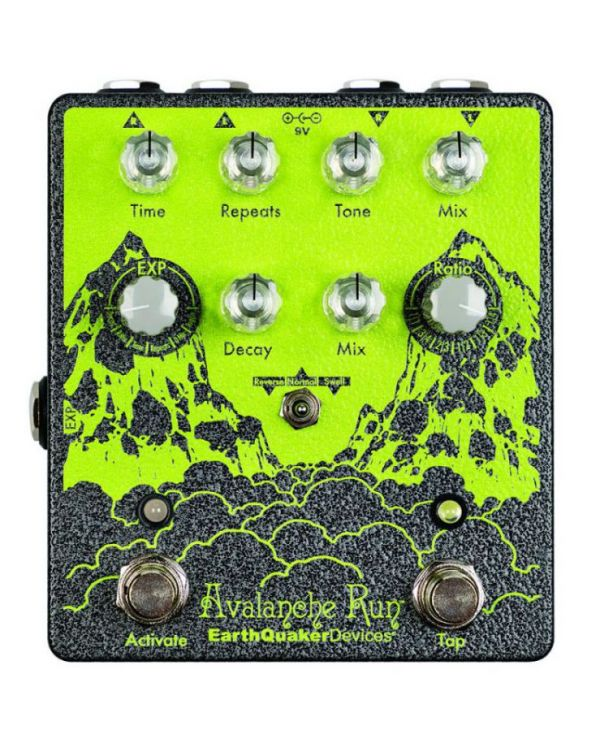 EarthQuaker Devices Avalanche Run V2 RYO Edition Reverb and Delay