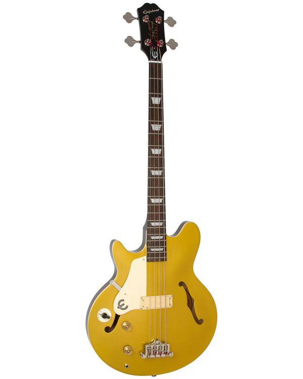 Epiphone Jack Casady Bass Left-handed Bass, Metallic Gold