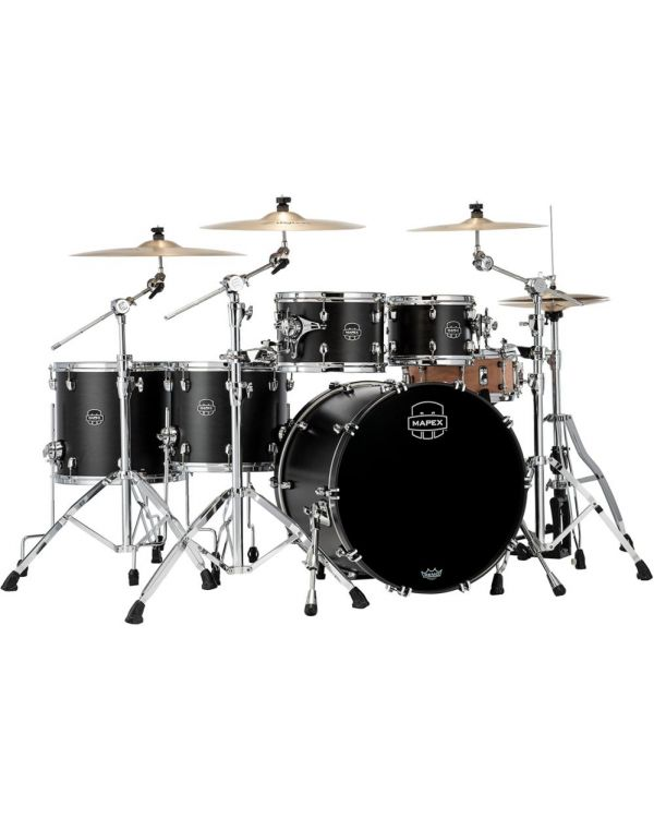 Mapex Saturn 2020 SR628X-FB 5-Piece Shell Pack, Satin Black
