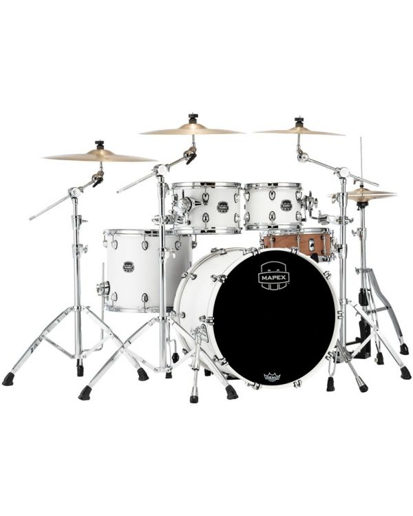 Mapex Saturn 2020 SR529XU-RM Rock 4-Piece Shell Pack Satin White