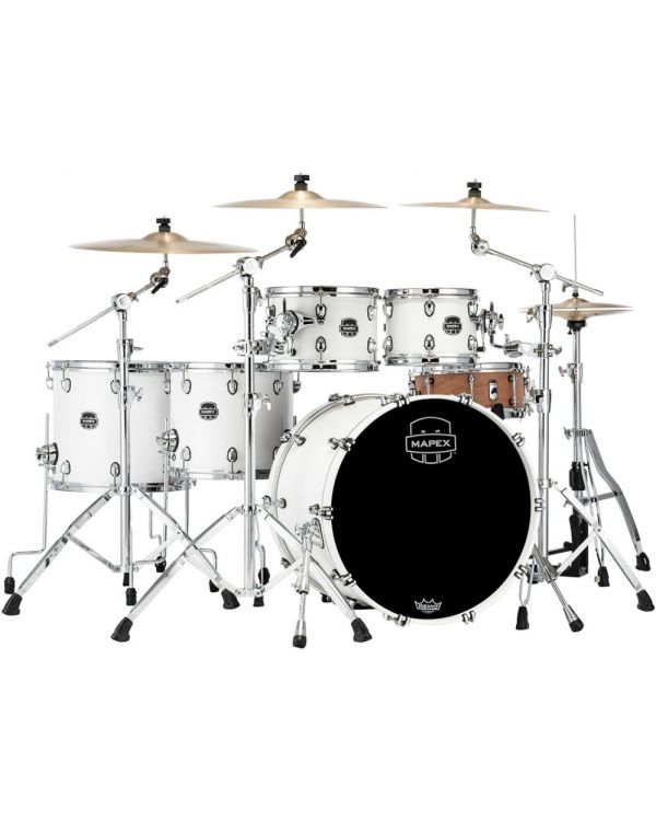 Mapex Saturn 2020 SR628X-RM Studioease 5-Piece Shell Pack, Satin White