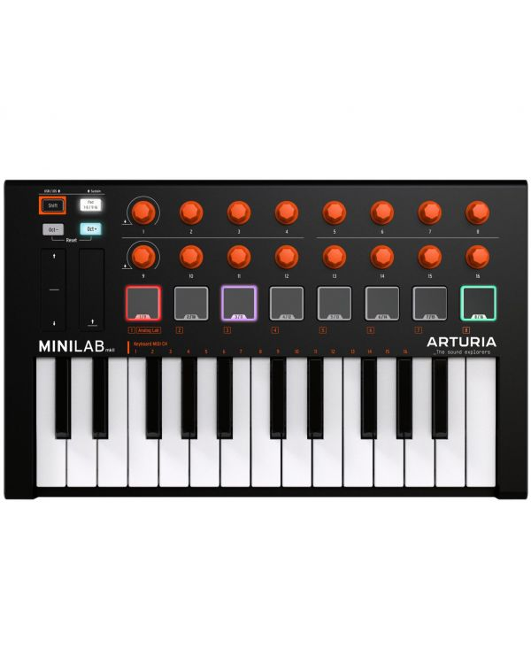 Arturia MiniLab MkII Black and Orange Edition USB MIDI Keyboard