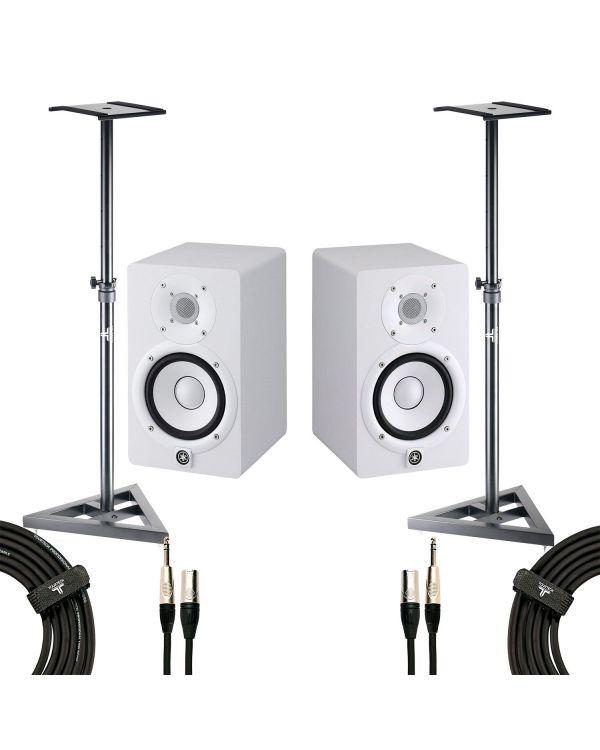 Yamaha HS5 Studio Monitor White Studio Pack